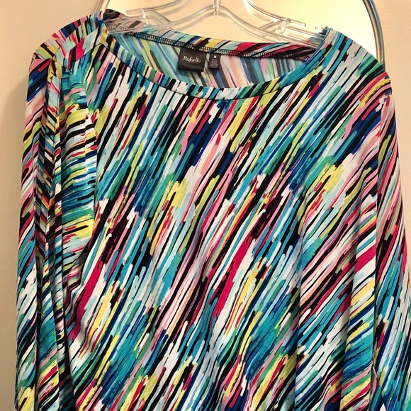 Rafaella Tops - Fun Colorful soft top. Dress or casual.